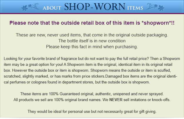 Shop Worn Disclaimer