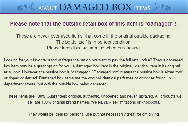 Damaged Box Disclaimer